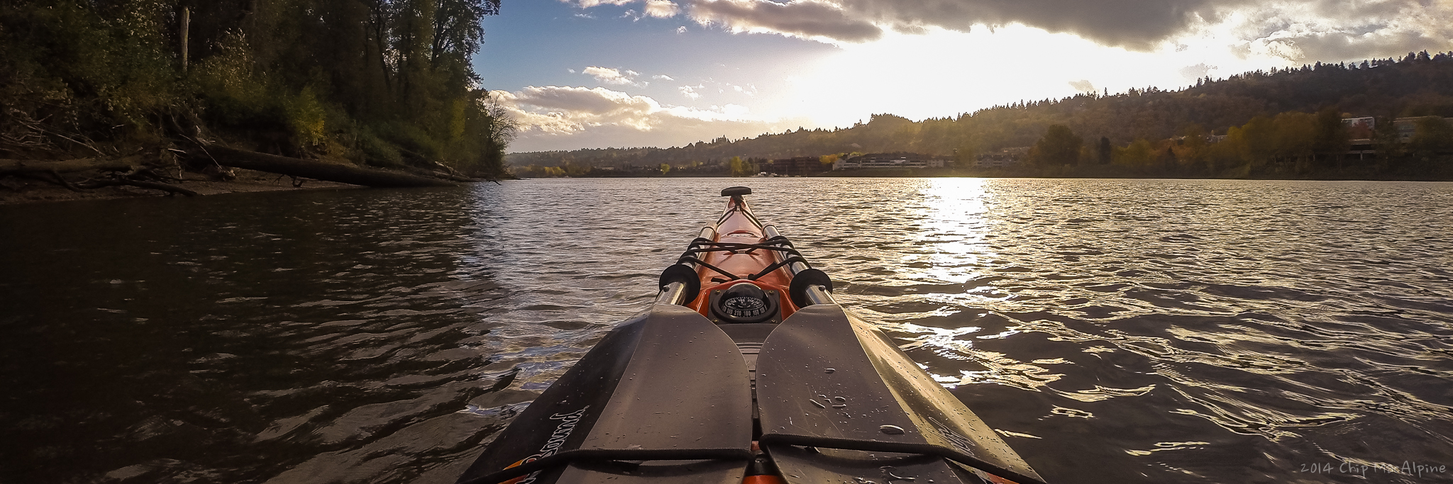 Chip MacAlpine, Willamette River, Oregon, Portland, Ross Island, Kayaking